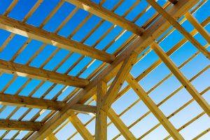 Dachkonstruktion aus Holz
